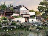 山水江南 苏州园林独栋别墅,独特中国风, 北大附属学位房