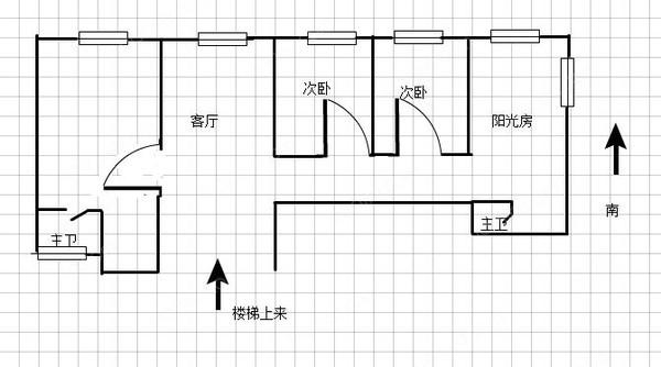 淮海花园顶楼在售only one 复式带车位 超级景观 约-室内图-1
