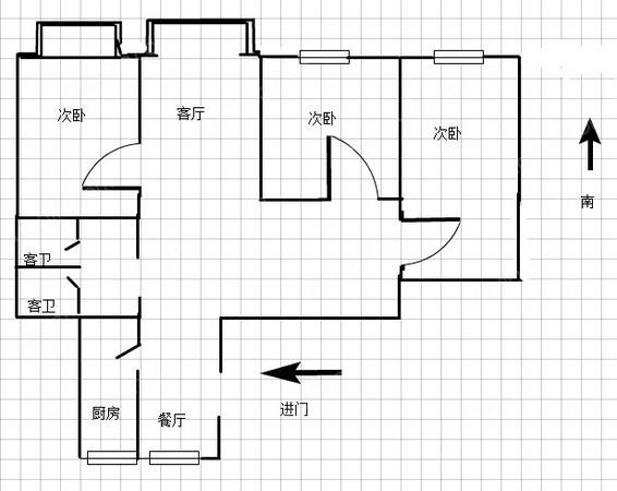 淮海花园顶楼在售only one 复式带车位 超级景观 约-室内图-2