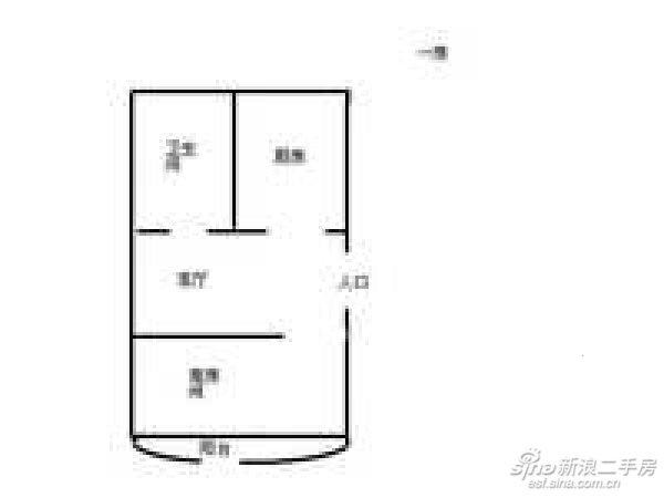 稀有一房 新华小区 43平155万 94年竣工 临近地铁急售-室内图-1