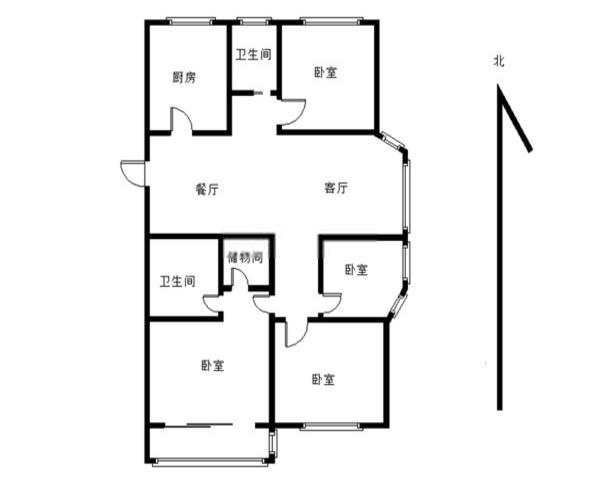 青蓝的房子  新小区 多层带电梯 东边套-室内图-1