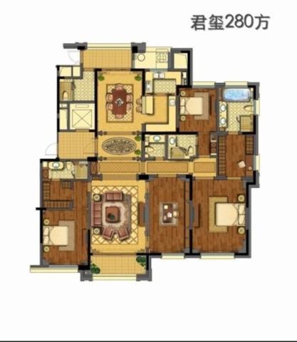 白马公寓  武林外滩 绿城兰园   景观房 九龙仓-室内图-1