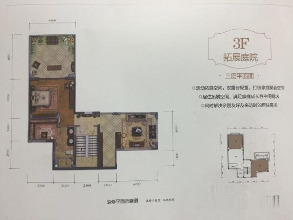 金开大道纯别墅小区 一线看湖双拼 户型大气 花园方正-室内图-2