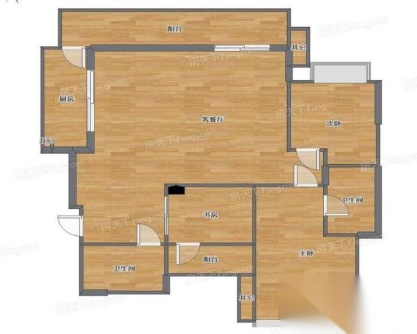 华润万象街 东原洋房小区 清水三房业主平价急售 适合居家-室内图-1