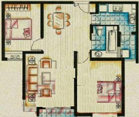 花桥地铁口 配套成熟 装修现房 价格还有优惠-室内图-1