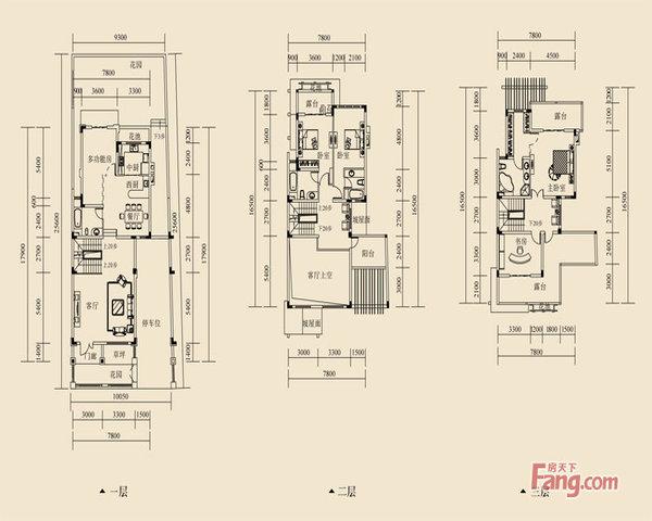蓝湖郡旁二线临湖双拼200平米花园客厅方正大气带车位-室内图-1