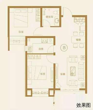 xue区房晨光两居室南北通透多层无公摊送地下室-室内图-1