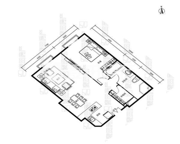 瑞士公寓 精美一居室 明厨明卫 家具齐 看房方便 保养良好-室内图-1