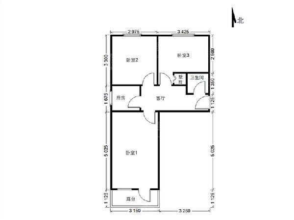 汽南小区 3室1厅1卫-室内图-2