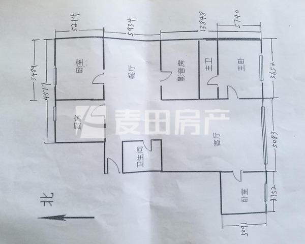 东二环 聚龙花园 南北通透大三居 双卧客厅 户型方正 看房-室内图-1