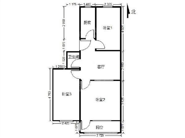 白云观南里 3室1厅1卫看房联系-室内图-2