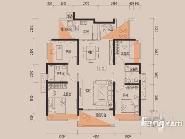 横沥名巨少有精装二房 送家私电器-室内图-1