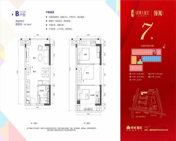 绿地大都会精装复式双层空间利用合理有创意限时低首付-室内图-2