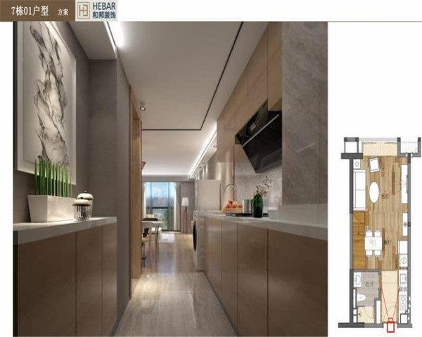 绿地大都会精装复式双层空间利用合理有创意限时低首付-室内图-6