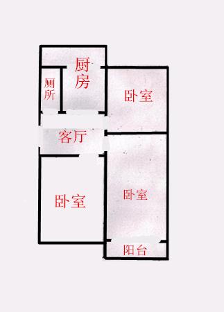 红旗大街17中草场街低楼层有钥匙真实图片-室内图-1