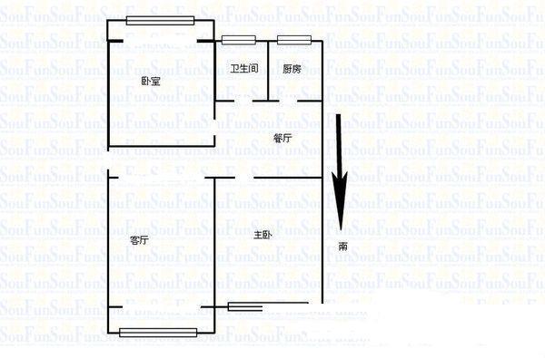 地税局宿舍三室有钥匙17中中间楼层红旗大街沿线-室内图-1