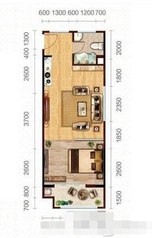 恒生艾特公寓41至67平 准现房发售单价8600起-室内图-2