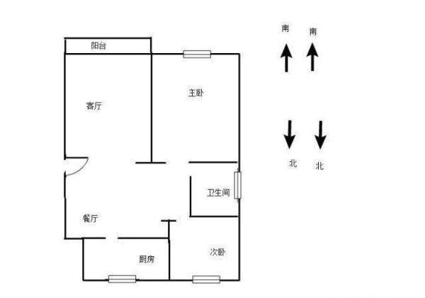 新出一手动迁省税30万 有钥匙看房小区位置3楼低于市场价-室内图-1