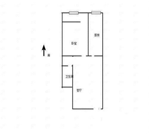 济微路 百兴家园 封闭式小区 精致一室一厅 送地下室 急售-室内图-1