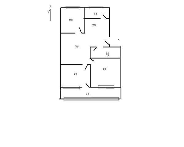 华兴小区 电视台宿舍 三室无税 中间楼层 单独管理 免费停车-室内图-1