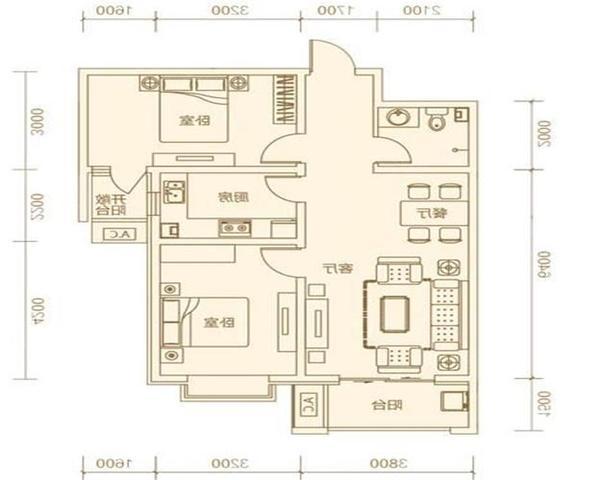 真实房源 维多利亚三期 两室 不临街 地铁3号线 包更名费-室内图-1