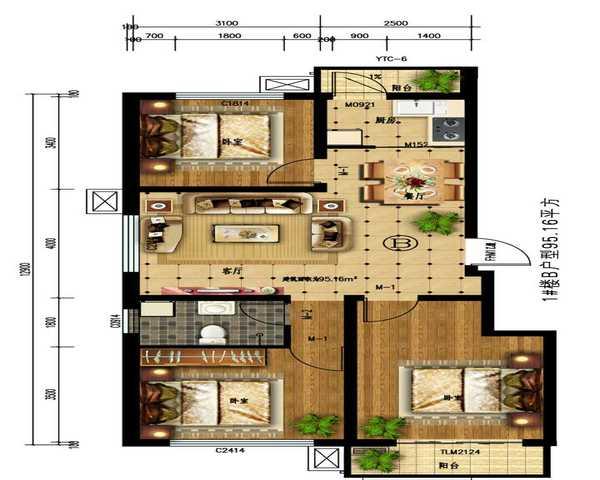 雄 胺周边一手房 均价3500 现房 高铁新城区 双高速-室内图-1
