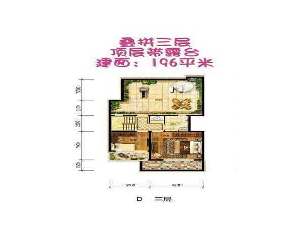 香 河大运河孔雀城叠拼别墅单价9500紧邻京哈高速-室内图-3