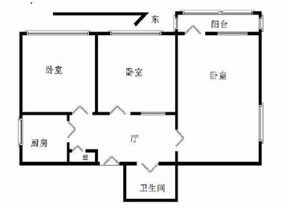 爱家真实房首付350买正规三居电梯房复兴门白云路街-室内图-1