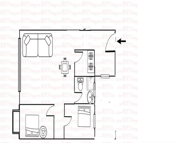 公园大地业主诚心出售精装两房看房提前预约-室内图-1