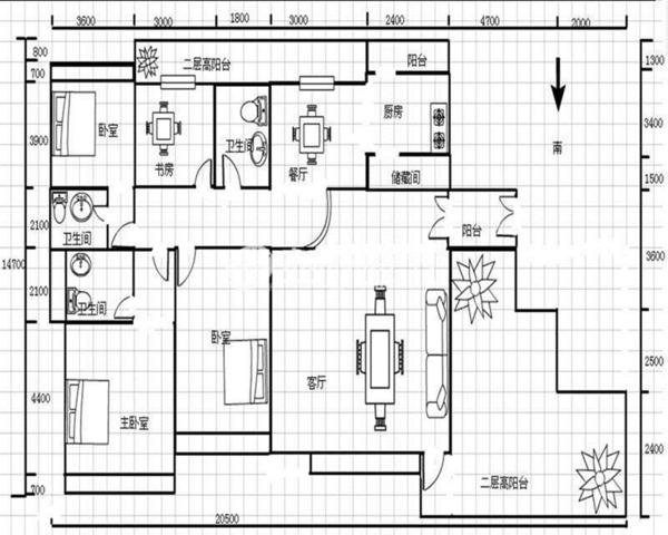 公园大地业主诚心出售精装4房中间楼层-室内图-1