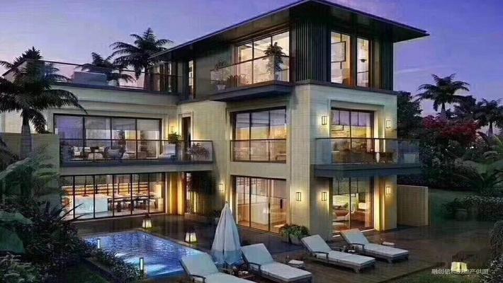 华贸城三亚海棠湾独栋别墅 带泳池花园 观海