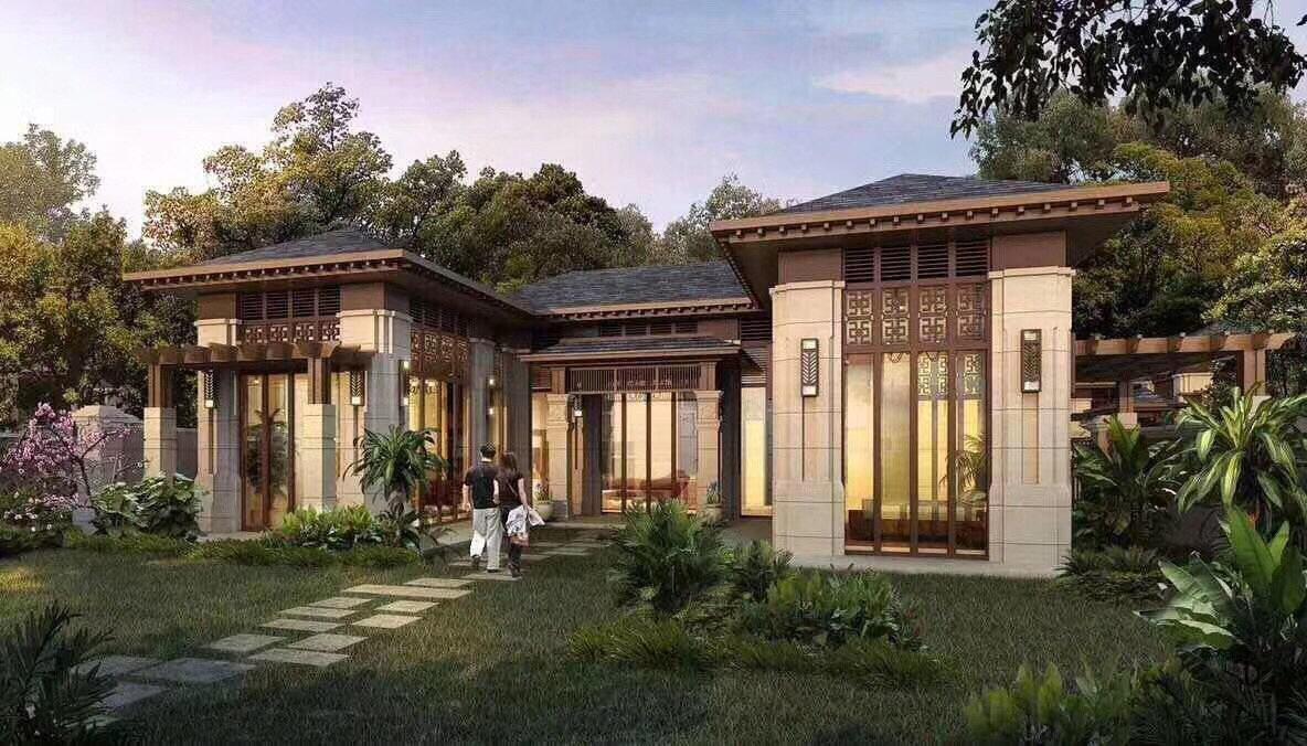 上海产权 独栋别墅 四合院风格 送泳池 送花园车库