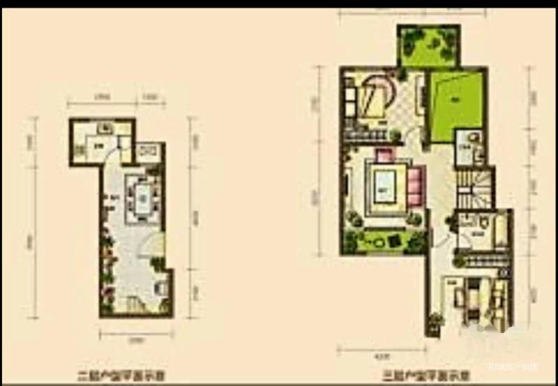 仁爱团泊湖 逸湖岸叠拼别墅赠超采光井半地下室实用面积220平